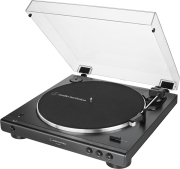 AUDIO TECHNICA AT-LP60X BT FULLY AUTOMATIC WIRELESS BELT-DRIVE TURNTABLE BLACK