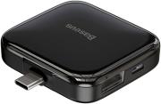 BASEUS PORTABLE TYPE-C OTG USB HUB 4X USB 2.0 BLACK