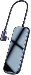 BASEUS MULTI FUNCTIONAL DEX HUB TYPE-C TO 3X USB 3.0 + HDMI 4K + SD/TF + PD CHARGING 60W DEEP GREY
